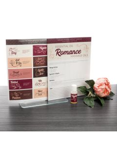 "Make-It-Yourself Series: ""Romance Massage Blends"" Recipes and Label Set"