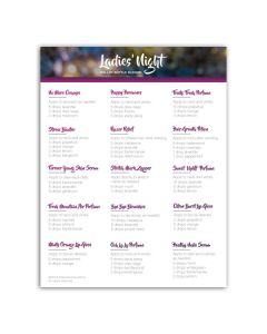 "Make-It-Yourself Series: ""Ladies' Night"" Recipes and Label Set"