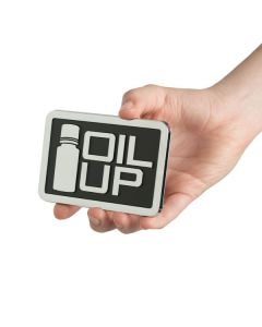 """Square Car Decal: """"Oil Up"""""""