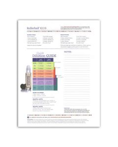 """Rollerball """"Kids"""":  Recipe Sheets (25 Count)"""