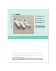 """""""Aroma Inhalers"""": Recipe Sheets (25 Count)"""