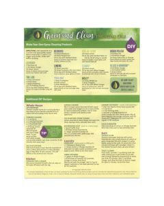 """""""Green and Clean with Essential Oils"""" Recipe Tear Pad (25 Count)"""
