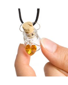 Perfuser Aroma Necklace with Oil Vial and Charm