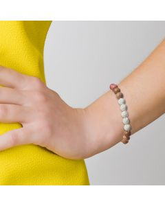 Diffusing Bracelet: Crystal Bead and Lava Stone (2 Count)