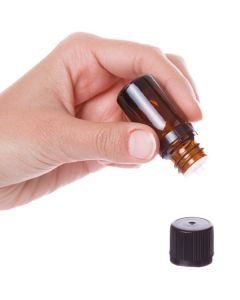 5 ml Vial: Amber Glass with Black Euro-style Cap and Orifice Reducer (6 Count)