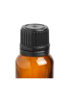 Replacement Cap: Black Euro-style for Essential Oil Vial (6 Count)