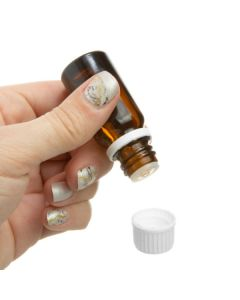 10 ml Vial: Amber Glass with White Euro-style Cap and Orifice Reducer (6 Count)