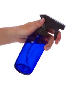 8 oz. Bottle: Blue Glass with Black Trigger Sprayer