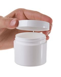 2 oz. Plastic Salve Container: Straight Sided