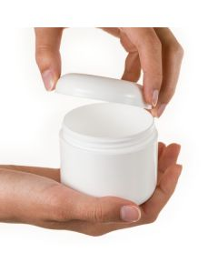 4 oz. Plastic Salve Container: Double Walled