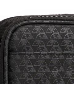 Aroma Ready Deluxe Foam Case: Black Triangles; Multi-size Bottles (Holds 79 Vials)