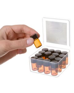 Cube Oil Box Set: 5/8 dram Sample Vials, Caps, and Orifice Reducers (16 Count)