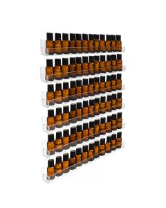 6-Row Display Rack: Clear Plastic (Holds 90 Vials)