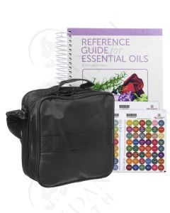 Reference Guide, Case, Labels Bundle: Hardcover, 2018 Edition updated with 2019 and 2020 Products; and Medium Versatile Aromatherapy Case (Holds 36 Vials)