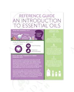 """Reference Guide: An Introduction to Essential Oils"" Tear Pad (50 Count)"