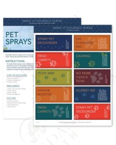 """Make-It-Yourself Series: """"Pet Sprays"""" Recipes and Label Set"""