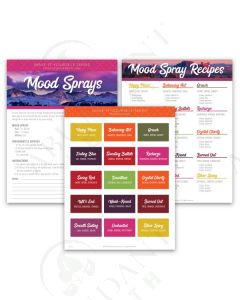 """Make-It-Yourself Series: """"Mood Sprays"""" Recipes and Label Set"""