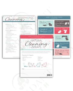 "Make-It-Yourself Series: ""Cleaning Sprays"" Recipes and Label Set"