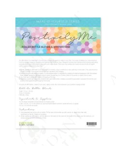"Make-It-Yourself Series: ""Positively Me"" Recipes and Label Set"