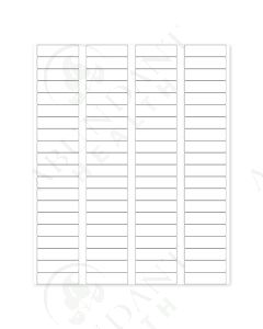 "Rectangle Laser Labels: 1-3/4"" x 1/2"", Blank, White (80 Count)"
