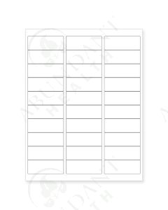 """Rectangle Laser Labels: 2-5/8"""" x 1"""", Blank, White, Moisture-Resistant Polyester (30 Count)"""