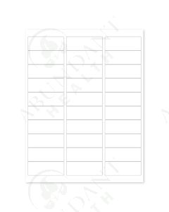 """Rectangle Laser Labels: 2-5/8"""" x 1"""", Blank, White (30 Count)"""