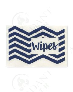 Single DIY Vinyl Label: Wipes