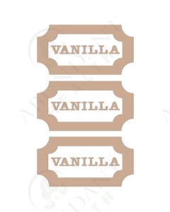 DIY Vinyl Labels: Vanilla, Beige (3 Count)