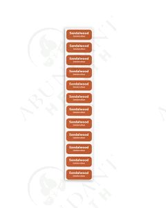"Preprinted Rectangle Labels: 1-1/4"" x 1/2"", Color-Coded for Sample Vials (12 Count)"