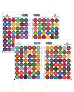 "All Oils and Blends Oil Lock Preprinted Circle Labels: 1/2"" for Sample Vials (192 Count)"