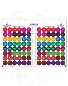 "Everyday Oils Oil Lock Preprinted Circle Labels: 1/2"" for Sample Vials (96 Count)"