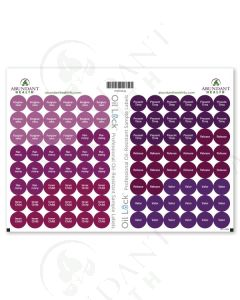 "Feelings Oil Lock Preprinted Circle Labels: 1/2"" for Sample Vials (96 Count)"