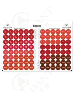 "GT1 Oil Lock Preprinted Circle Labels: 1/2"" for Sample Vials (96 Count)"