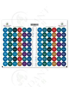 "Raindrop Technique Oil Lock Preprinted Circle Labels: 1/2"" for Sample Vials (96 Count)"