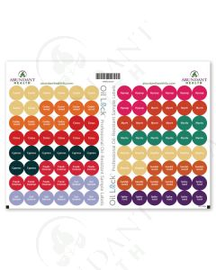 "12 Oils of Ancient Scripture Oil Lock Preprinted Circle Labels: 1/2"" for Sample Vials (96 Count)"
