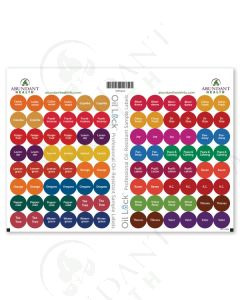 "Top 24 Oil Lock Preprinted Circle Labels: 1/2"" for Sample Vials (96 Count)"