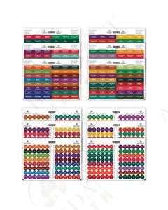 Best Value Oil Lock Pre-Printed Circle and Rectangle Label Set for Sample Vials (864 Labels)
