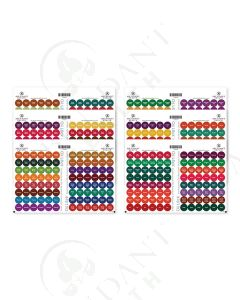Best Value Oil Lock Pre-Printed Circle Label Set for Sample Vials (576 Labels)