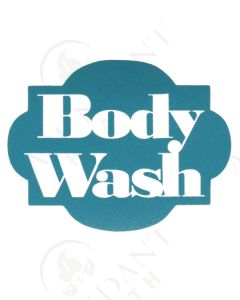Single DIY Vinyl Label: Body Wash