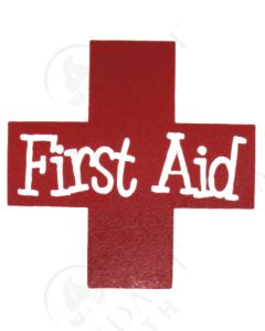 Single DIY Vinyl Label: First Aid