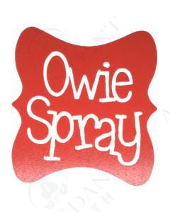 Single DIY Vinyl Label: Owie Spray