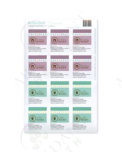"""Rollerball """"Mamas"""": Happy and Calm Labels (12 Count)"""