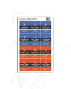 """Rollerball """"Teachers"""": Happy and Calm Labels (12 Count)"""