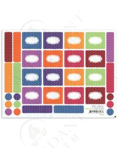 Polka Dot Roll-on Bottle Oil Lock Labels and Sticker Tops for 1/3 oz. Vials (33 Count)