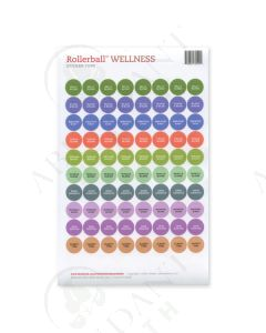 "Waterproof Sticker Tops: Rollerball ""Wellness"" (88 Count)"