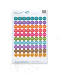 "Rollerball ""Mood Series"": Waterproof Sticker Tops (88 Count)"