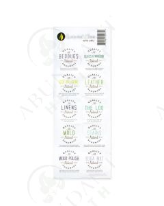 """Green and Clean"": Assorted Labels (10 Count)"