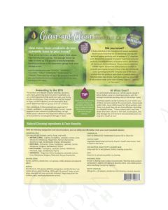 """Green and Clean with Essential Oils"" Recipe Tear Pad (25 Count)"