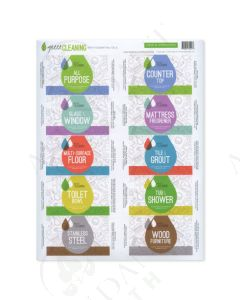 """Green Cleaning"" Assorted Labels (10 Count)"