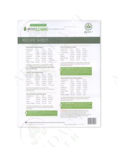 """Green Cleaning"" Recipe Sheets (25 Count)"